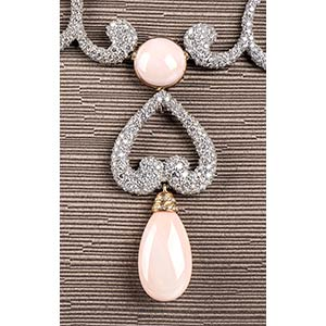 Gold, pink coral and ...